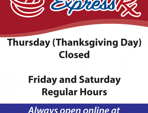 Thanksgiving Week Hours for Express Rx